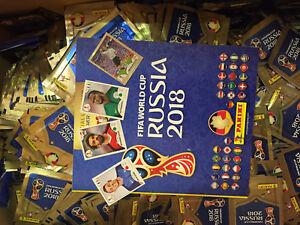 Panini-coupe-du-monde-2018-wm18-Russia-5-10-20-50-100-Stickers-choisir-presque-tous-les-paillettes