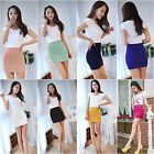 11 Colors Women's Sexy Mini Skirt Slim Seamless Stretch Tight Short Fitted Dress