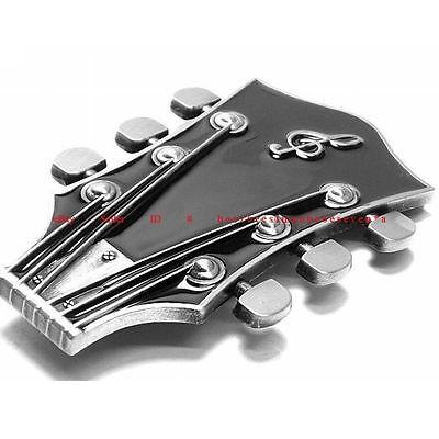 SBU1559 GUITAR STRING TUNER ROCK N ROLL MUSIC BAND GUITAR HEAD BELT BUCKLE