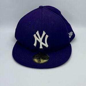 info pour style distinctif bon out x Détails sur NY Yankees New Era 59 Fifty Casquette de baseball-Genuine  Merchandise-Violet - 7 1/4- afficher le titre d'origine
