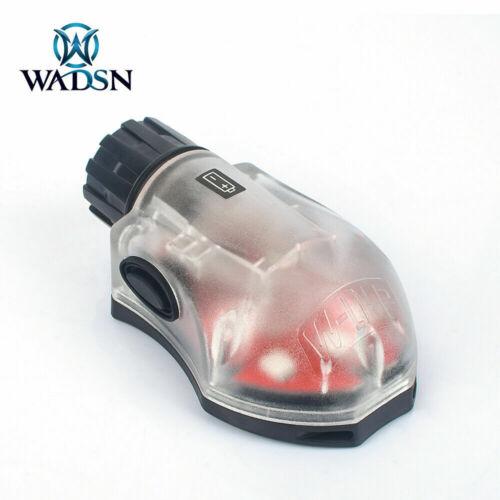 Black // RED WADSN Manta Strobe Military Version LED Helmet Light IFF Strobe