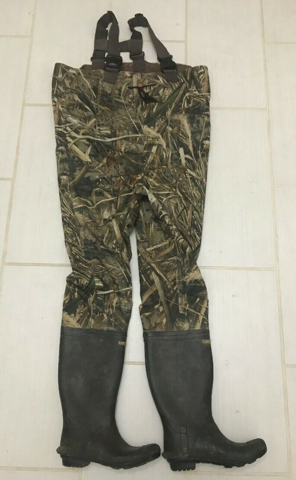 Game Winner camouflage realtree  max 5 2-ply insulated boot-foot  Wader, size 9  outlet store
