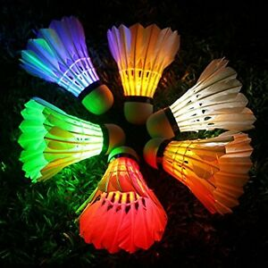 LED Badminton, Inngree 6 Pack 3 LED 8 Mode Color Shuttlecock Dark Night Goose