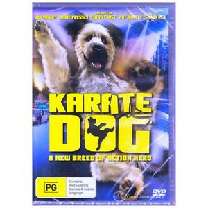 DVD-KARATE-DOG-Jon-Voight-Pat-Morita-Chevy-Chase-Talking-Dog-Comedy-PG-R4-BNS