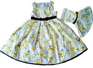 Girl-039-s-amp-Doll-Floral-Dress-Set-Easter-Summer-Party-Dress-American-Girl-18-034-Doll