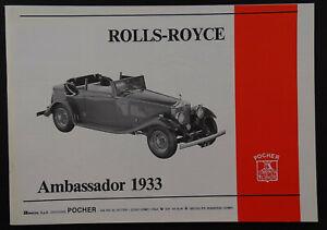 Pocher 1:8 Rolls-Royce Ambassador 1933 k83 k72 72-06 j2