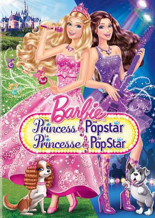 Barbie: The Princess  the Popstar (DVD, 2012, Canadian)