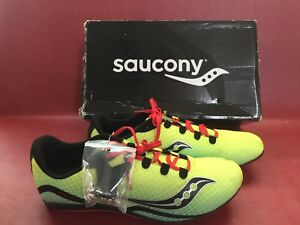 7430ec4bc17a Saucony Men s Vendetta Track Spike Racing Shoe Citron Blue Red 12.5 ...