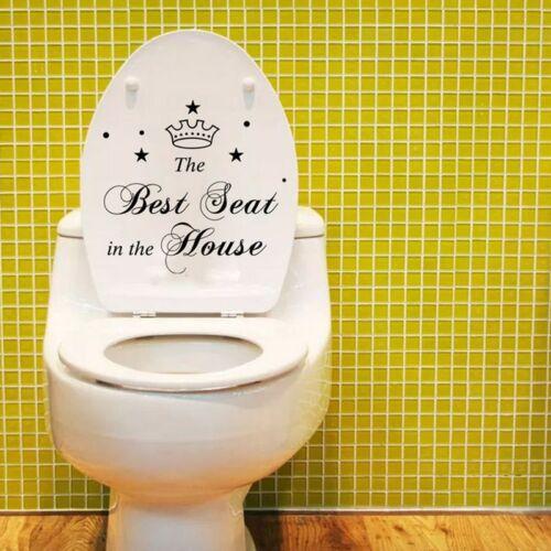 Hot Sale 1PC Crown Best Toilet Seat Sticker Bathroom Decal Creative Stickers