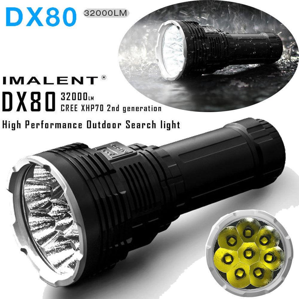 IMALENT DX80 CREE XHP70 LED 32000lm IPX-8 Waterproof 8 x LED Smart Flashlight US