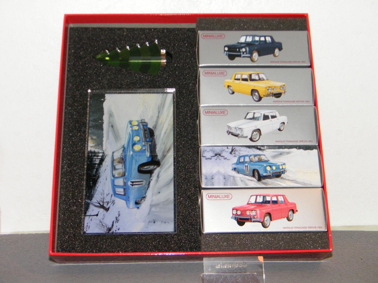 Nuevos productos de artículos novedosos. Coffret de Noël cinq Renault R8 R8 R8 MINIALUXE 1 43 Ref Coffret_5_R8  comprar ahora