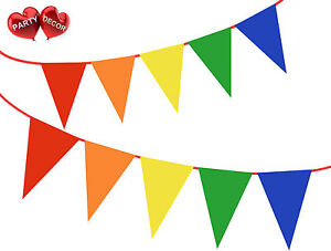 Gay-Pride-Bunting-Banniere-Rainbow-Couleur-Parti-Decoration-De-Fete-Decoration