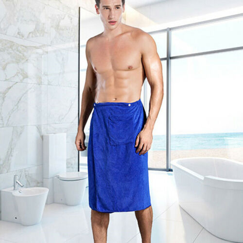 Men/'s Spa Wrap Towel with Snap Closure Absorb For Shower /& Bath Towel Wrap LH