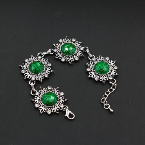 Rétro Vintage Femmes Résine Fleur de Cristal Charme Bracelet Betsey Johnson Bracelets