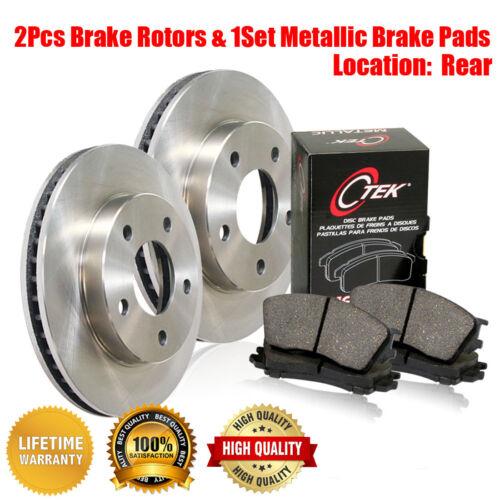 Metallic Brake Pads 3PCS For Lexus LS430 Centric Rear Brake Disc Rotors