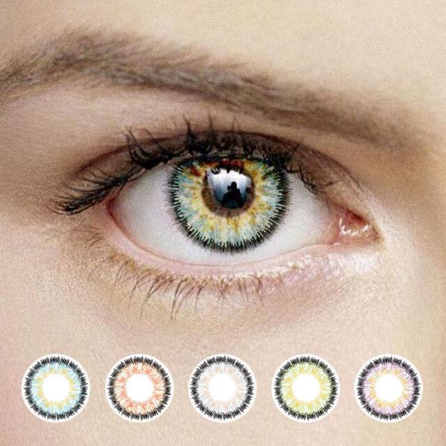 KOREA X10 3Tone Color Contact Lenses Fresh Lens Coloured Kontaktlinsen 1 Pair