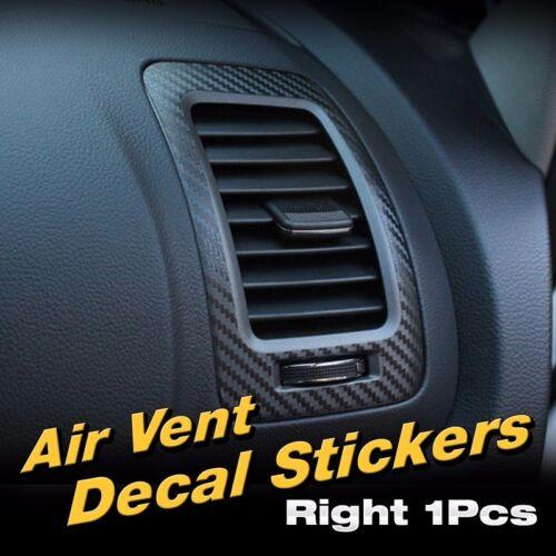 Interior Air Vent Black Carbon Decal Sticker Black 1P for KIA 2013-2018 Cerato