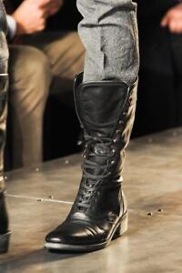 New Handmade Mens Military Style Superb Leather Boots Men