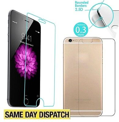 Genuine Tempered Glass Front & Back Film Screen cover Protector for iPhone 8 4.7