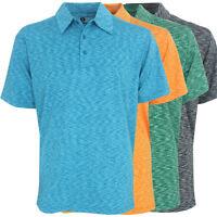 Ixspa Men's Space Dye Polo Golf Shirt, Brand