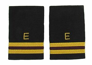 Epaulette Aircraft Engineers Gold-Maroon with E 2 Gold & 1 Maroon Bars R1752