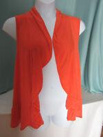 Kaktus Sportswear Flyaway Cardigan Sweater 1x Knit Lightweight Orange