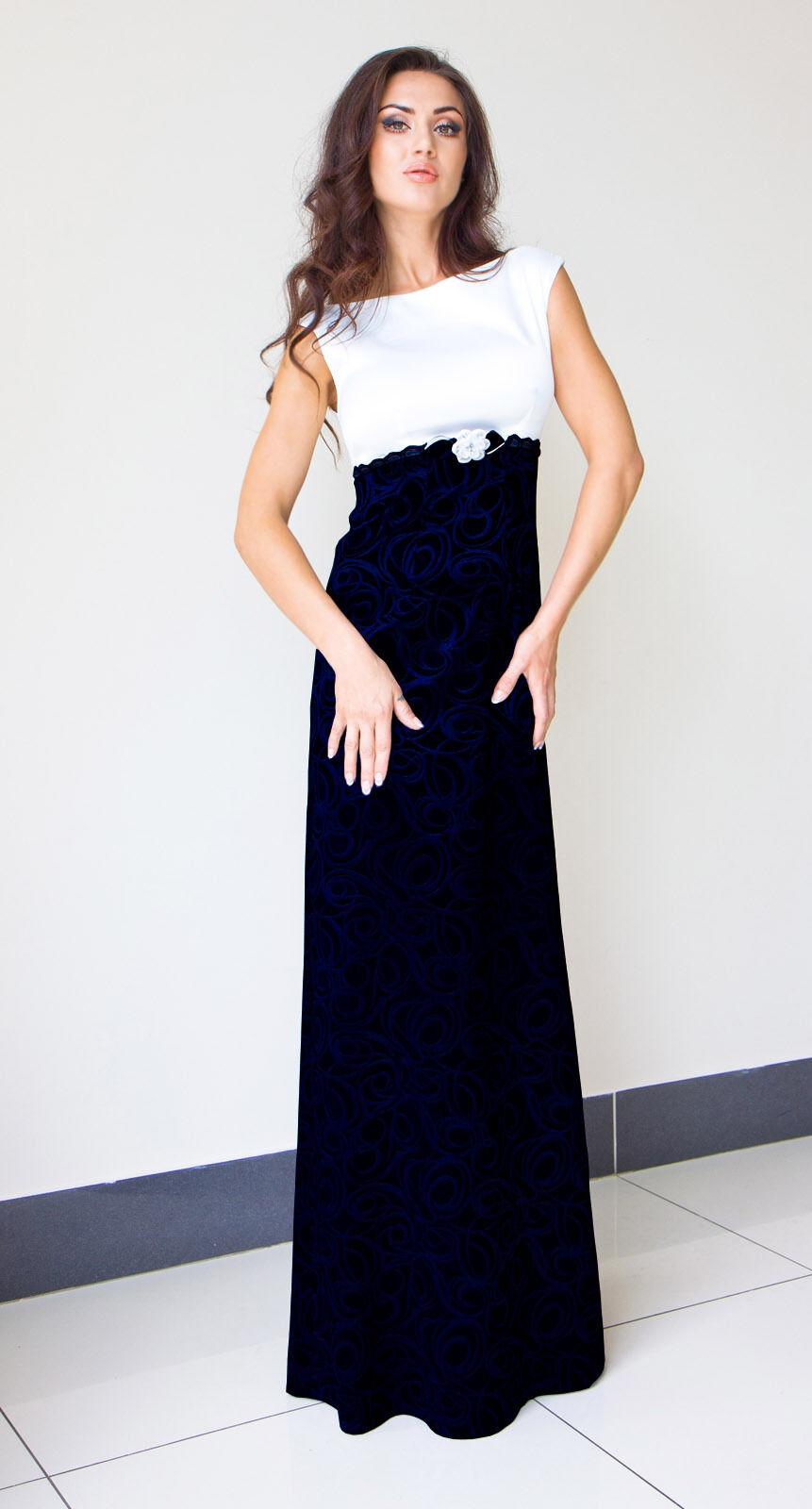 Formelle Lang Damen Hochzeit Party Abend Maxi Kleid Größe 8 - 22