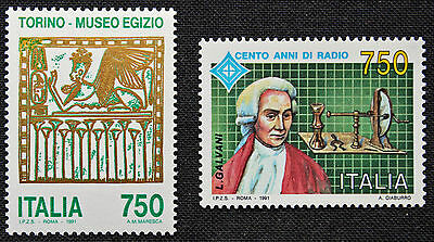 - Yvert Und Tellier Nr.1922-1923 N Elegante Form Italien Briefmarke cyn4