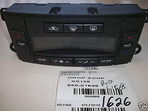 Cadillac CTS AC//Heater Control 2005-2006