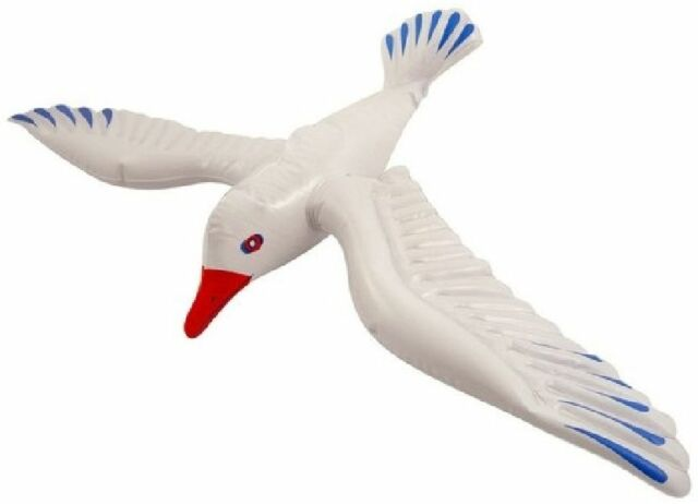 Blow Up Vogel Aufblasbare Seagull 76cm Party Prop #DE
