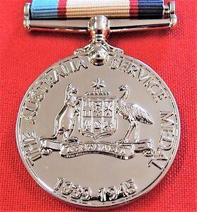 WW2-THE-1939-45-AUSTRALIAN-SERVICE-MEDAL-RIBBON-REPLICA-MEDAL-MOUNTING-ANZAC