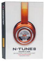 Monster N-tune Noise Isolating On-ear Headphones - Candy Tangerine Orange