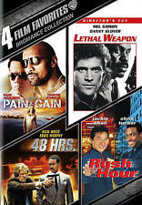 New! 4 Film DVD set - Lethal Weapon - 48 Hrs - Rush Hour - Pain - Murphy Chan