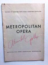 Autographed by star Cristel Goltz Met Program Salome 12/22/1954