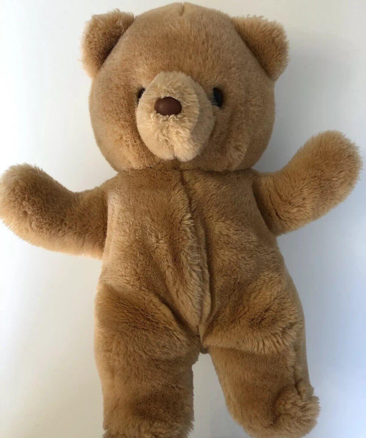 Russ Berrie Vintage HONEY Teddy Bear 592 Plush Stuffed Animal Light braun 14