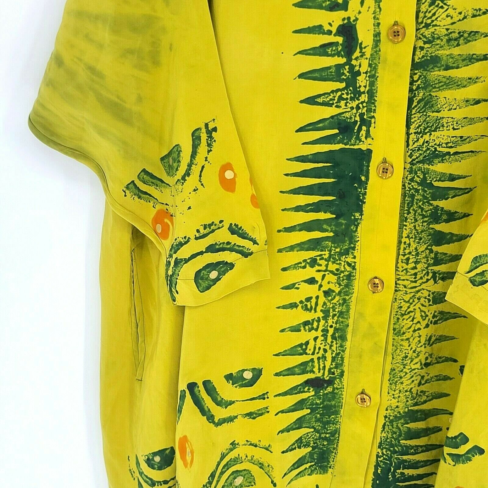Laise Adzer Womens Vintage 1980's Hand Painted Si… - image 8