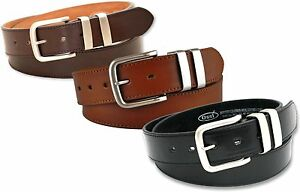 "NEW MENS BLACK BROWN OR TAN LEATHER LINED BELT 5056 SIZE LARGE 38"" WAIST NWT"