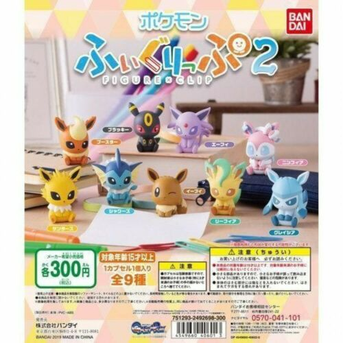 Pokemon FIGURE x CLIP2 mini Figure Full Complete Eevee Set BANDAI