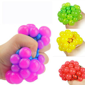 Novelty-Anti-Stress-Squishy-Mesh-Venting-Ball-Grape-Squeeze-Sensory-Fruity-Toys