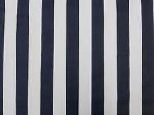 RAY STRIPE NAVY A66 CURTAIN SOFT FURNISHING FABRIC BLUE WHITE SEASIDE STRIPE