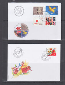 Switzerland-Mi-1746-1777-2001-issues-5-complete-sets-on-5-official-FDCs-VF