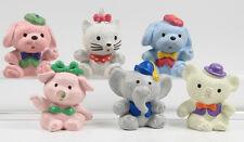 Hello Kitty / lovely animals === 6 x Figuren Bully Bullyland