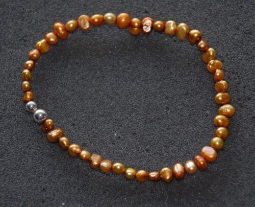 RET Copper FWP Strlng Slvr Bead Bracelet SILPADA B1369 ONE SINGLE