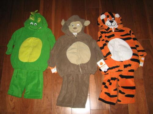 NWT Carters 2 piece micro fleece Halloween Costume 6 9 mos Tiger Dragon Monkey