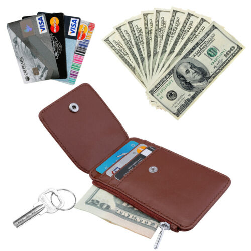 Muticolor PU Leather ID Badge Card Holder Retractable Reel Credit Work Name Case
