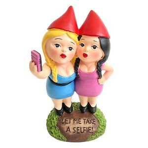 Rude Garden Gnomes Figurine Funny Selfie Gnome Couple Statue NEW Christmas Gifts