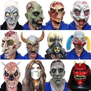 Halloween Terror Mascaras Latex Payaso Zombie Craneo Diablo - Mascaras-de-halloween-de-terror