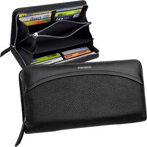 NINA-RICCI-Zip-Damen-Brieftasche-Geldboerse-Geldbeutel-Portemonnaie-Geldtasche