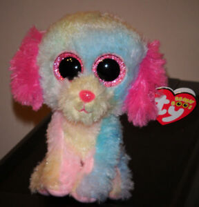 "Ty Beanie Boo ~ LOVESY the Dog 6"" (Justice Exclusive) NEW MWMT"