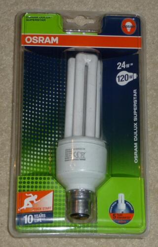 OSRAM Dulux Superstar Energy Saving Lamp 24W B22d Warm White MADE IN GERMANY NEW